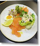 Seafood Platter Metal Print
