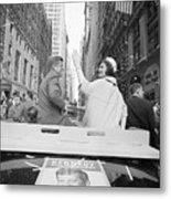 Senator John Kennedy And Jackie Kennedy Metal Print