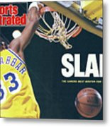 Slam The Lakers Beat Boston For The Nba Title Sports Illustrated Cover Metal Print