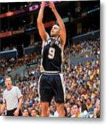 Spurs V Lakers Metal Print