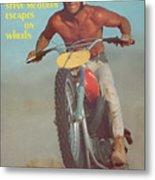 Steve Mcqueen, Motocross Sports Illustrated Cover Metal Print