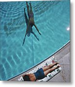 Swimmer And Sunbather Metal Print