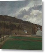 The Banks Of The Marne In Winter Metal Print