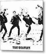 The Beatles Black And White Watercolor 01 Metal Print