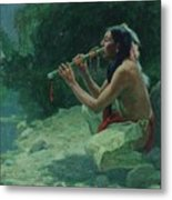 The Call Of The Flute Metal Print