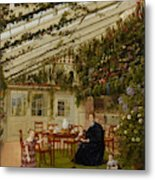 The Family Of Mr  Westfal In The Conservatory  Metal Print