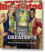 The Greatests Ledecky  Phelps  Biles Sports Illustrated Cover Metal Print
