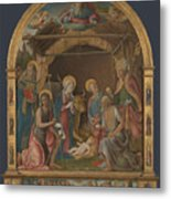 The Nativity With Saints Altarpiece  Metal Print