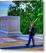 Tomb Of The Unknown Soldier Painting Metal Print