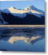 Turnagain Arm And Kenai Mountains Alaska Metal Print
