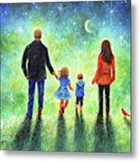 Twilight Walk With Mom And Dad Metal Print