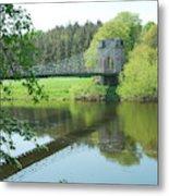 Union Bridge At Horncliffe On River Tweed Metal Print