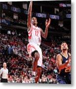 Utah Jazz V Houston Rockets Metal Print