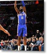 Utah Jazz V Philadelphia 76ers Metal Print