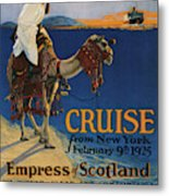 Vintage Poster -  Mediterranean Cruises Metal Print