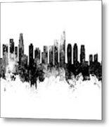 Washington Dc, Los Angeles And Buenos Aires Skyline Mashup Metal Print