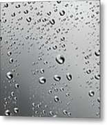 Water Drops Background Dew Condensation Metal Print