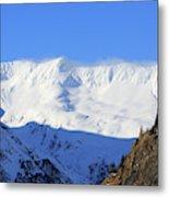 Wind Blows Over The Kenai Mountains Alaska Metal Print