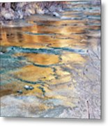 Winter Azure And Gold Metal Print