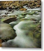 Winter River Rapids Metal Print