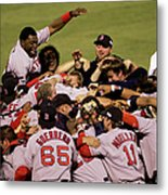 World Series Red Sox V Cardinals Game 4 1 Metal Print