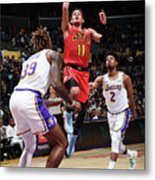 Atlanta Hawks V Los Angeles Lakers Metal Print