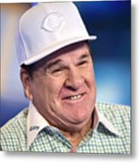 Baseball Legend Pete Rose Visits Stuart Metal Print