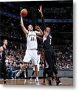 La Clippers V Brooklyn Nets Metal Print
