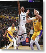 Memphis Grizzlies V Los Angeles Lakers Metal Print