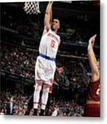 New York Knicks V Cleveland Cavaliers Metal Print