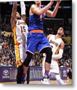 New York Knicks V Los Angeles Lakers Metal Print
