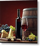 Red Wine Composition Metal Print