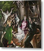 The Adoration Of The Shepherds  Metal Print