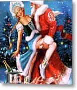 Vintage Soviet Holiday Postcard Metal Print