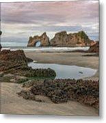 Wharariki Beach - New Zealand Metal Print