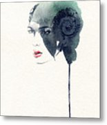 Woman Face. Hand Painted Fashion Metal Print