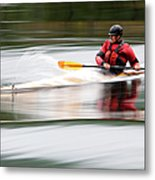 Cedar Strip Kayak Metal Print