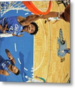 Charlotte Hornets V Orlando Magic Metal Print