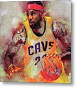 Lebron Raymone James Metal Print