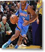 Oklahoma City Thunder V Los Angeles Metal Print