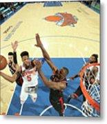 Toronto Raptors V New York Knicks Metal Print