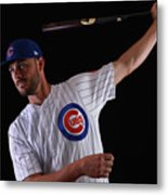 Chicago Cubs Photo Day 12 Metal Print