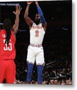 Houston Rockets V New York Knicks Metal Print