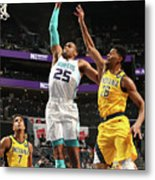 Indiana Pacers V Charlotte Hornets Metal Print