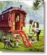 1223 Gypsy Caravan Metal Print
