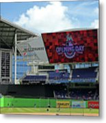 Atlanta Braves V Miami Marlins Metal Print