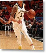 Indiana Pacers V Miami Heat Metal Print