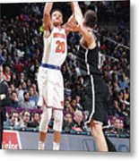 New York Knicks V Brooklyn Nets Metal Print