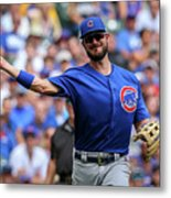 Chicago Cubs V Milwaukee Brewers 15 Metal Print