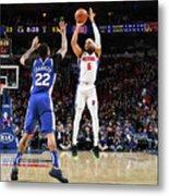 Detroit Pistons V Philadelphia 76ers Metal Print
